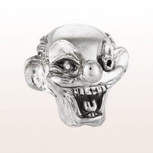 """Briefbeschwerer """"Uncle Joe´s Head"""" mit Brilliant 0,07ct in 925 Sterling Silber von Künstler George Condo"""