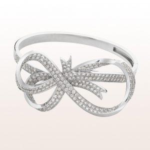 Armband mit Brillanten 6,9 ct in 18kt Weißgold