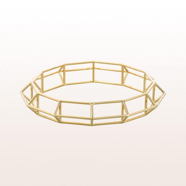 "Bangle ""Aurum Structure"" by designer Klemens Schillinger in 18kt yellow gold"