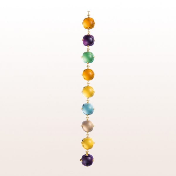 Bracelet with topaz, citrine, amethyst and beryl in 18kt yellow gold