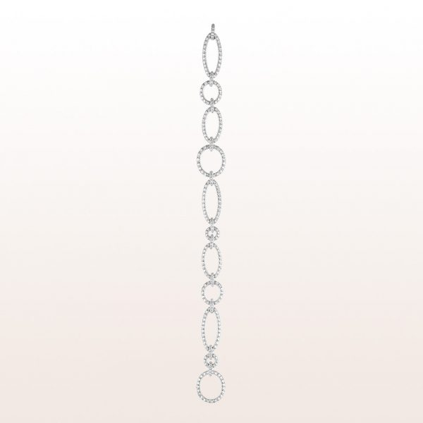 Bracelet with brilliant cut diamonds 2,46ct in 18kt white gold