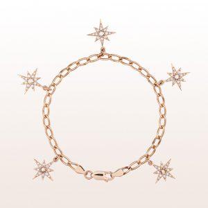 Armband mit Diamanten in 18kt Roségold