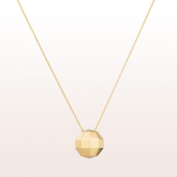 "Necklace ""Aurum Fineness"" by designer Klemens Schillinger in 18kt yellow gold"