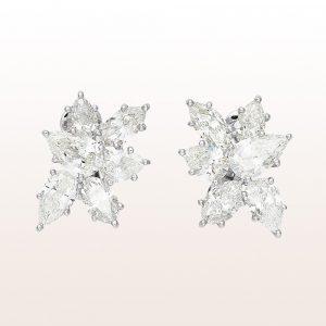 Ohrgehänge mit Diamanten 8,34ct in 18kt Weißgold