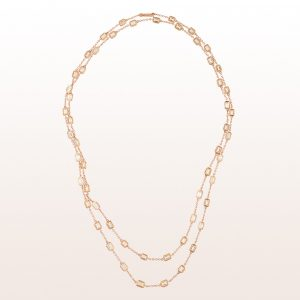 Collier mit Baguette-Diamanten 15,30ct in 18kt Roségold