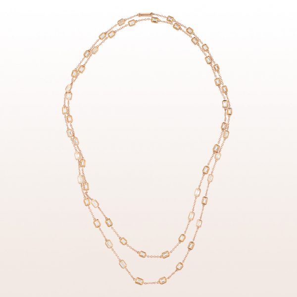 Collier mit Baguette-Diamanten 15,30ct in 18kt Roségold