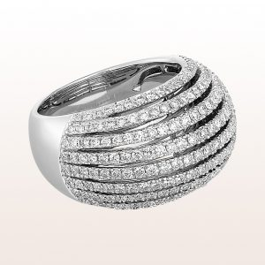 Ring mit Diamanten 1,62ct in 18kt Weißgold