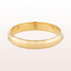 "Ring ""Aurum chart"" by designer Klemens Schillinger in 18kt yellow gold"