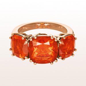 Ring mit Feueropalen 5,60ct in 18kt Roségold