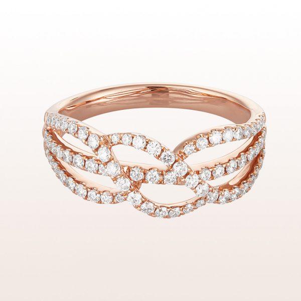 Ring mit Brillanten 0,52ct in 18kt Roségold