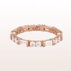 Ring mit Diamanten 1,36ct in 18kt Roségold
