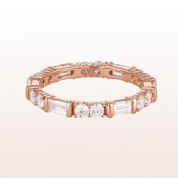 Ring mit Diamanten 1,36ct in 18kt Roségold