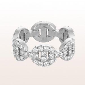 Ring mit Brillantgliedern 1,75ct in 18kt Weißgold