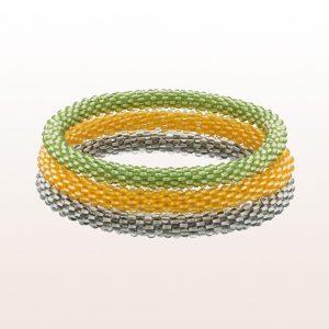 Coccinella Armbänder aus Peridot, Citrin und Bergkristall