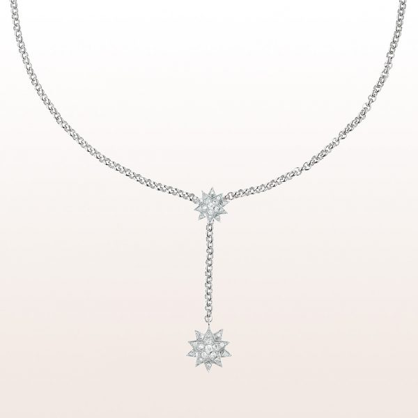"""Necklace """"Auguste"""" with brilliant cut diamonds 1,01ct in 18kt white gold"""