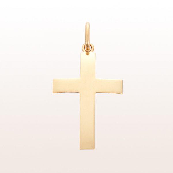 Kreuz-Anhänger aus 18kt Gelbgold