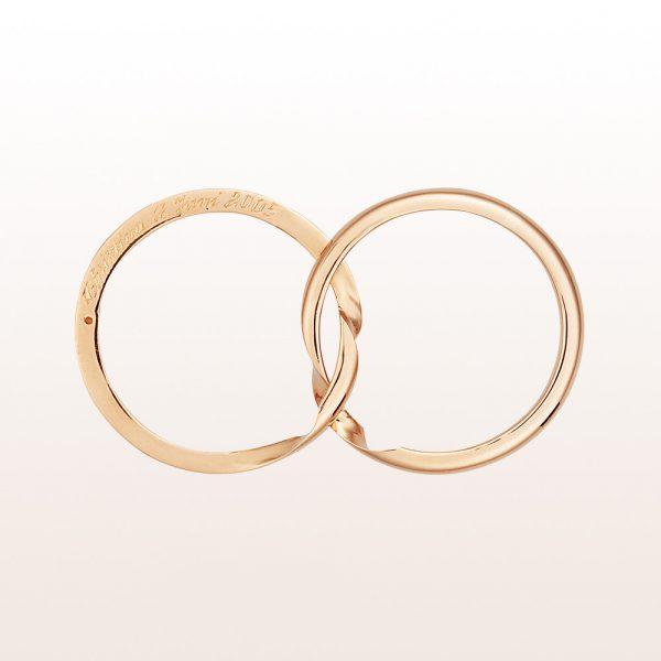 Zweiteiliger Ehering aus 18kt Gelbgold
