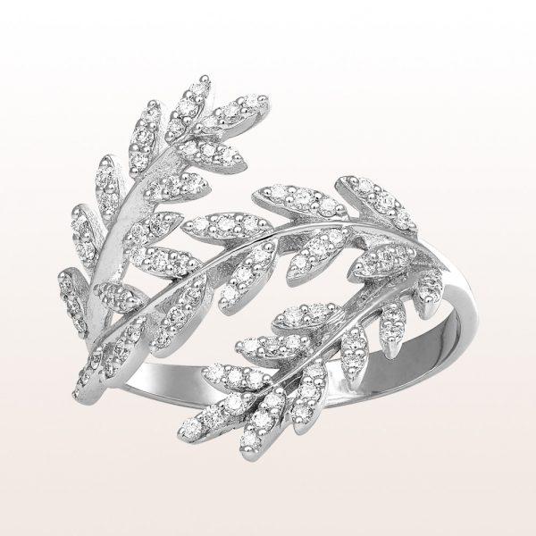 Ring mit Brillanten 0,43ct in 18kt Weißgold