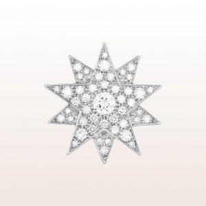 """Brosche und Anhänger Sisi """"Modell 3"""" mit Brillanten 1,31ct in 18k Weißgold"""