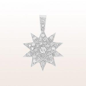 """Anhänger und Brosche Sisi """"Modell 4"""" mit Brillanten 0,82ct in 18kt Weißgold"""