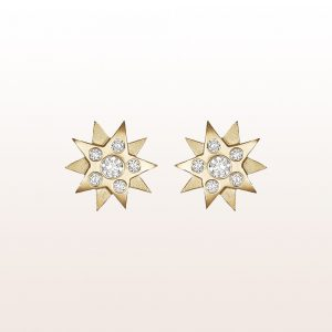 "Ohrstecker ""Gisela"" mit 12 Brillanten 0,34ct in 18kt Gelbgold"