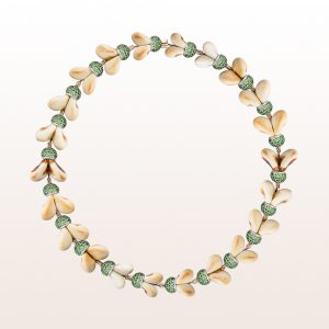 Necklace with grandln and tsavorite 26,49ct in 18kt rose gold