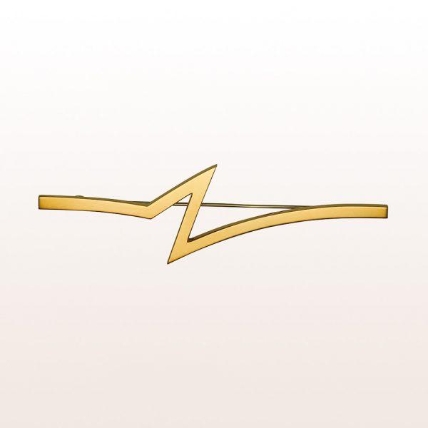 """Brosche """"Blitz"""" von Künstler Hans Hollein aus 18kt Gelbgold"""