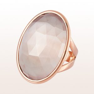 Ring mit grauem Quarz 45,00ct in 18kt Roségold