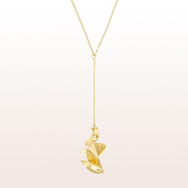 """Collier """"Unfold"""" von Designer Ulli Budde in 18kt Gelbgold"""