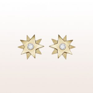 "Ohrstecker ""Gisela"" mit 2 Brillanten 0,20ct in 18kt Gelbgold"