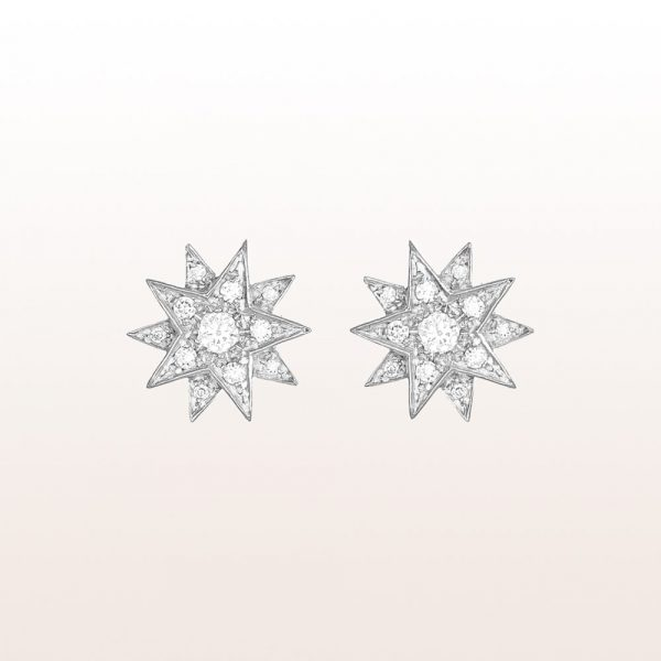 """Earrings """"Gisela"""" with brilliants 0,40ct in 18kt white gold"""