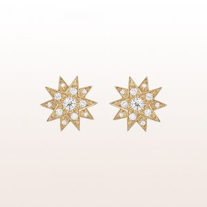 "Ohrstecker ""Gisela"" mit Brillanten 0,40ct in 18kt Gelbgold"