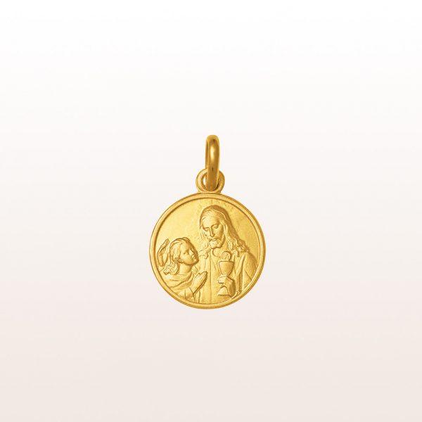 """Anhänger """"Heilige Kommunion"""" in 18kt Gelbgold"""