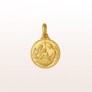"""Anhänger """"Heilige Taufe"""" in 18kt Gelbgold"""