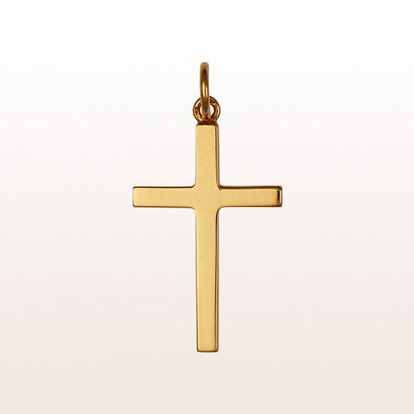 Kreuzanhänger aus 14kt Gelbgold