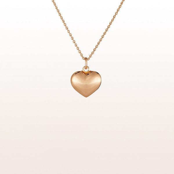 Herzanhänger aus 18kt Roségold