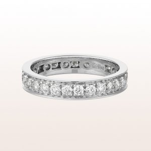 Eternityring mit Brillanten 1,11ct in 18kt Weißgold