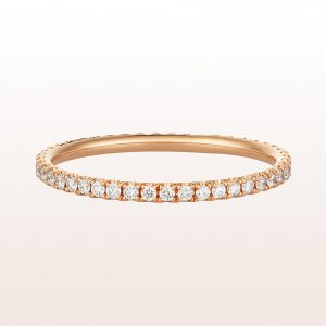 Eternityring mit Brillanten 0,23ct in 18kt Roségold