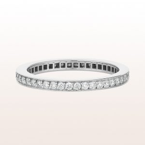 Eternityring mit Brillanten 0,40ct in 18kt Weißgold