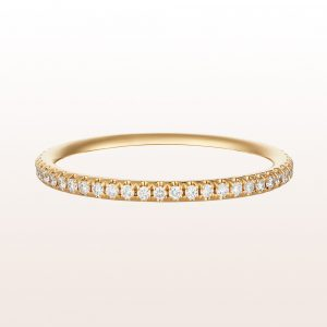 Eternityring mit Brillanten 0,23ct in 18kt Gelbgold